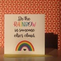 Rainbow Cloud Mini Greetings Card | Clouds Online